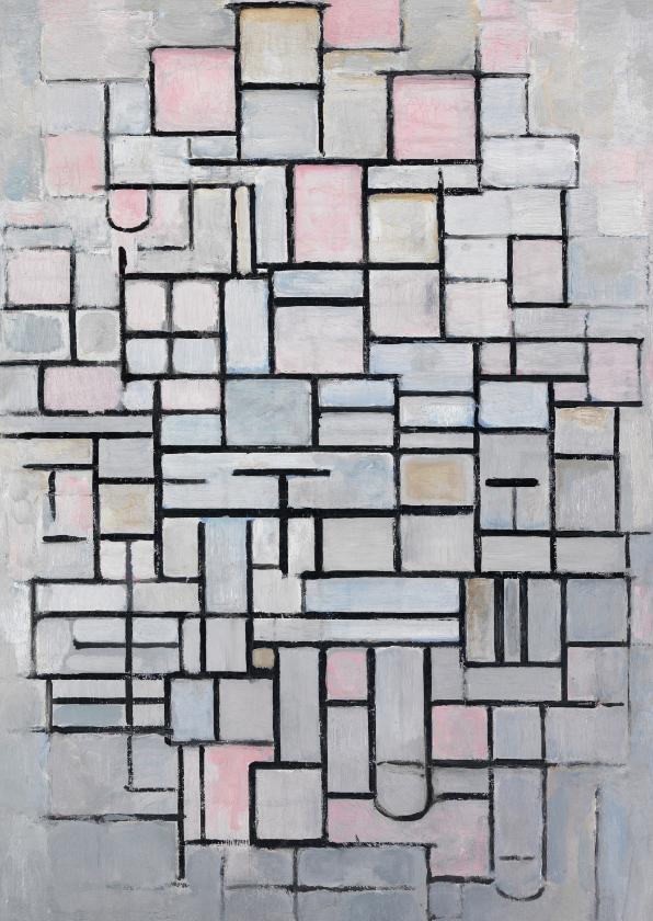 Kunstkaarten - Kunstkaart van Piet Mondriaan. Compositie IV