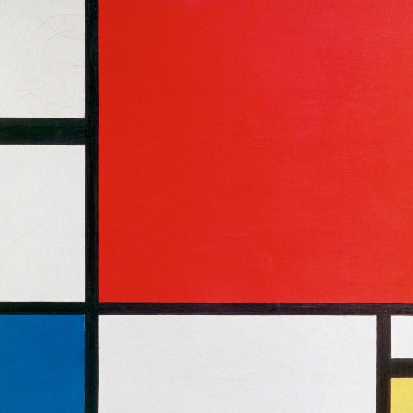 Kunstkaarten - Kunstkaart van Piet Mondriaan. Compositie
