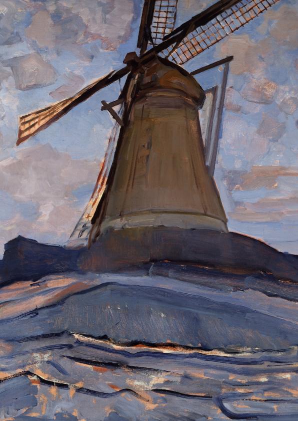 Kunstkaarten - Kunstkaart van Piet Mondriaan. De molen