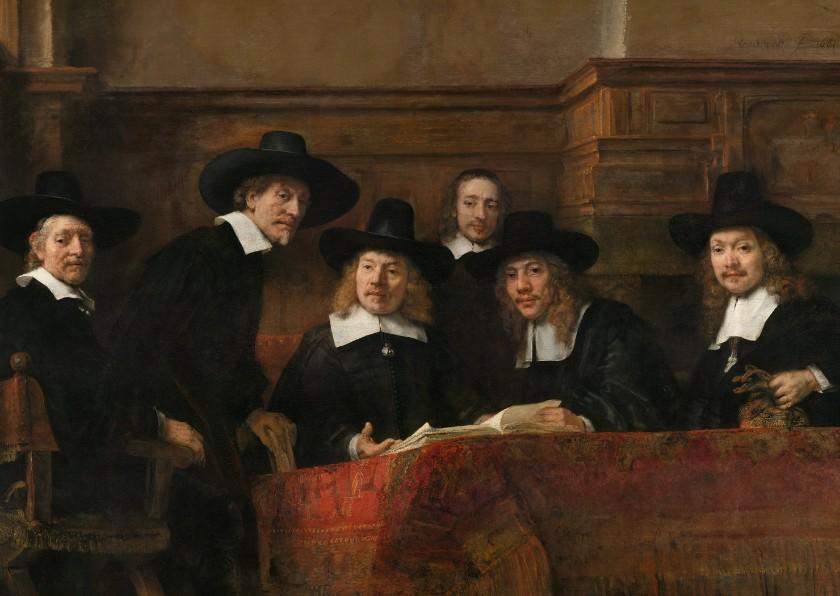 Kunstkaarten - Kunstkaart van Rembrandt. De staalmeester