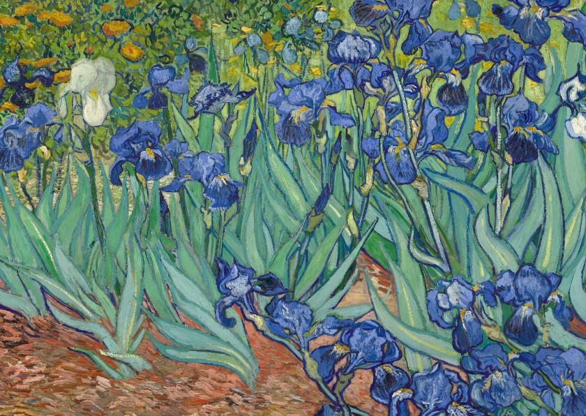 Kunstkaarten - Kunstkaart van Vincent van Gogh. Irissen