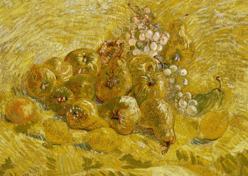 Kunstkaarten - Kunstkaart van Vincent van Gogh. Kweeperen