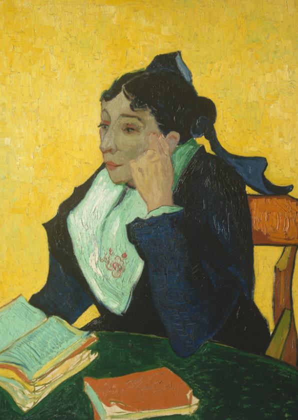 Kunstkaarten - Kunstkaart van Vincent van Gogh. l'Arlesienne
