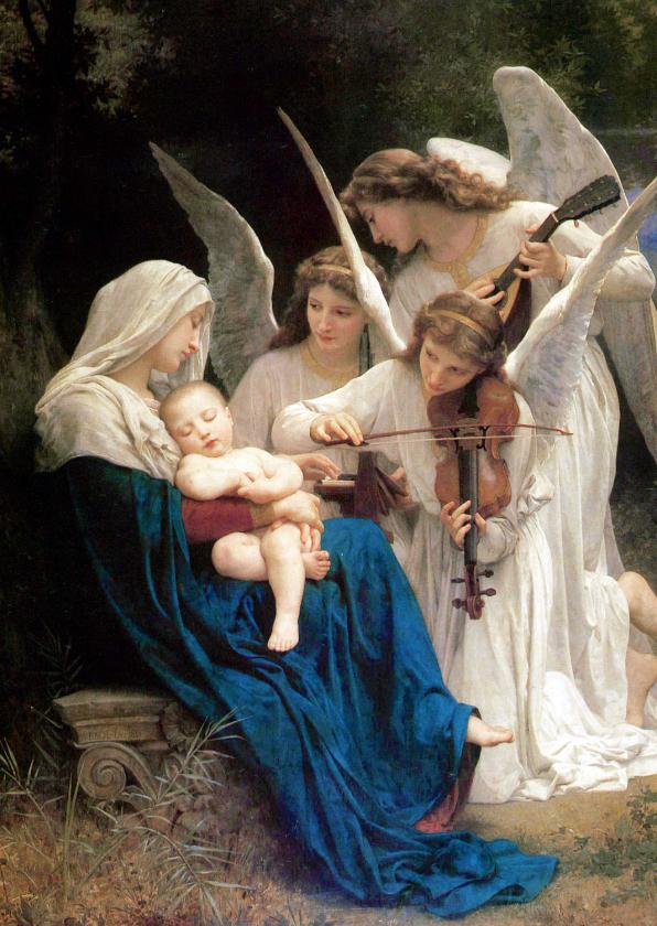 Kunstkaarten - kunstkaart William-Adolphe Bouguereau. Lied van de engelen