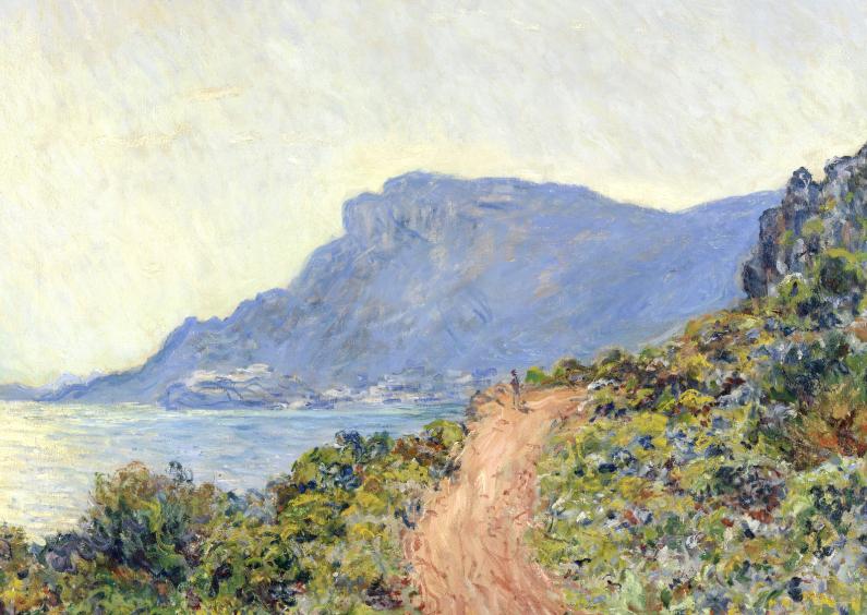 Kunstkaarten - La Corniche bij Monac - Monet