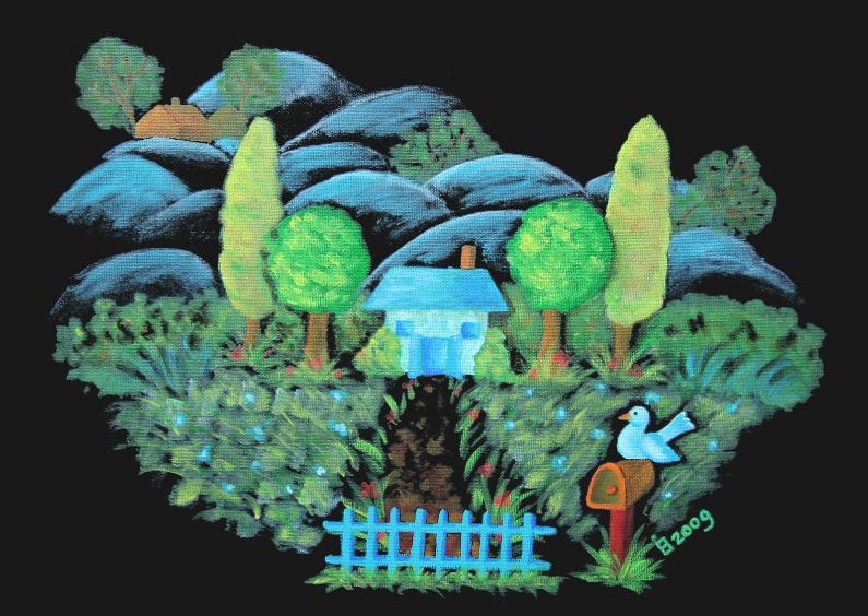 Kunstkaarten - Landschap met huisje