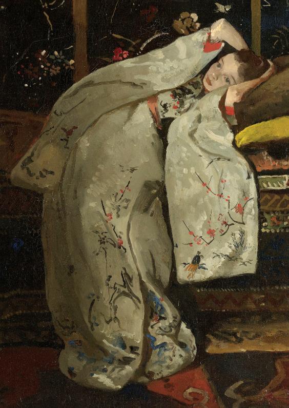 Kunstkaarten - Meisje in witte kimono