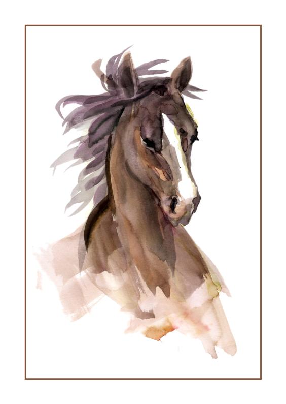 Kunstkaarten - Prachtige Kaart Paard