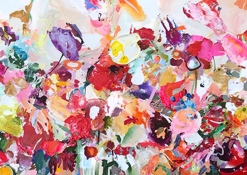 Kunstkaarten - Schilderij Feestje! van Martine de Ruiter