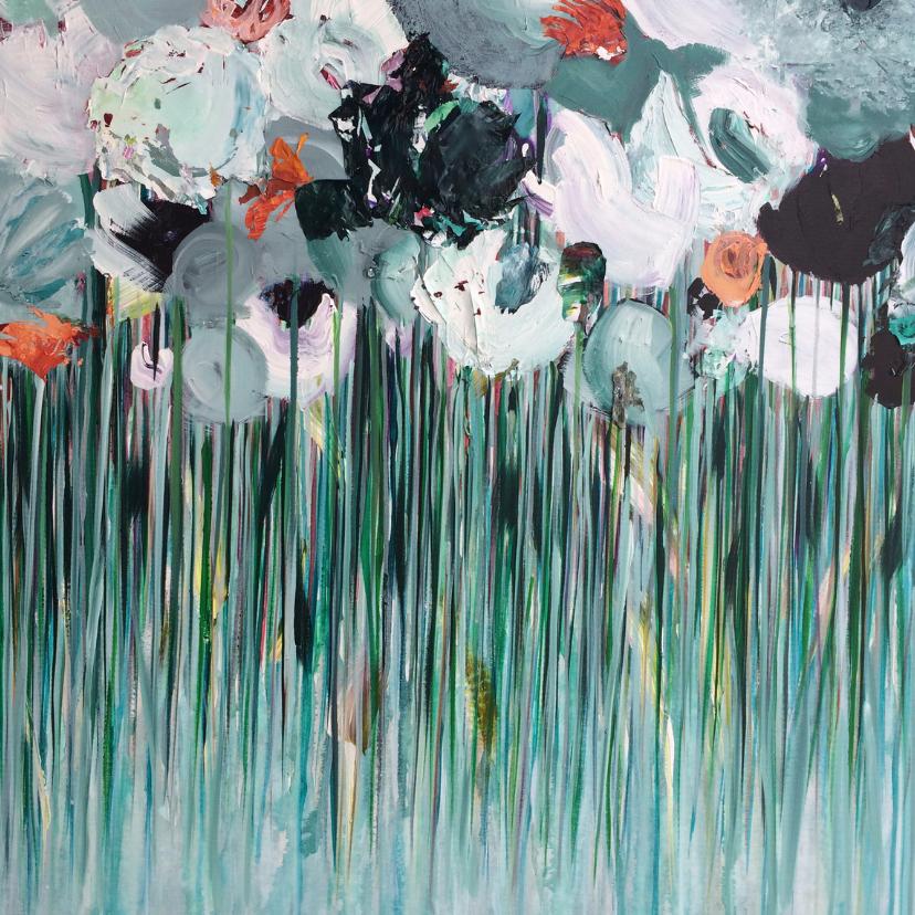 Kunstkaarten - Schilderij 'Morgen' bloemen