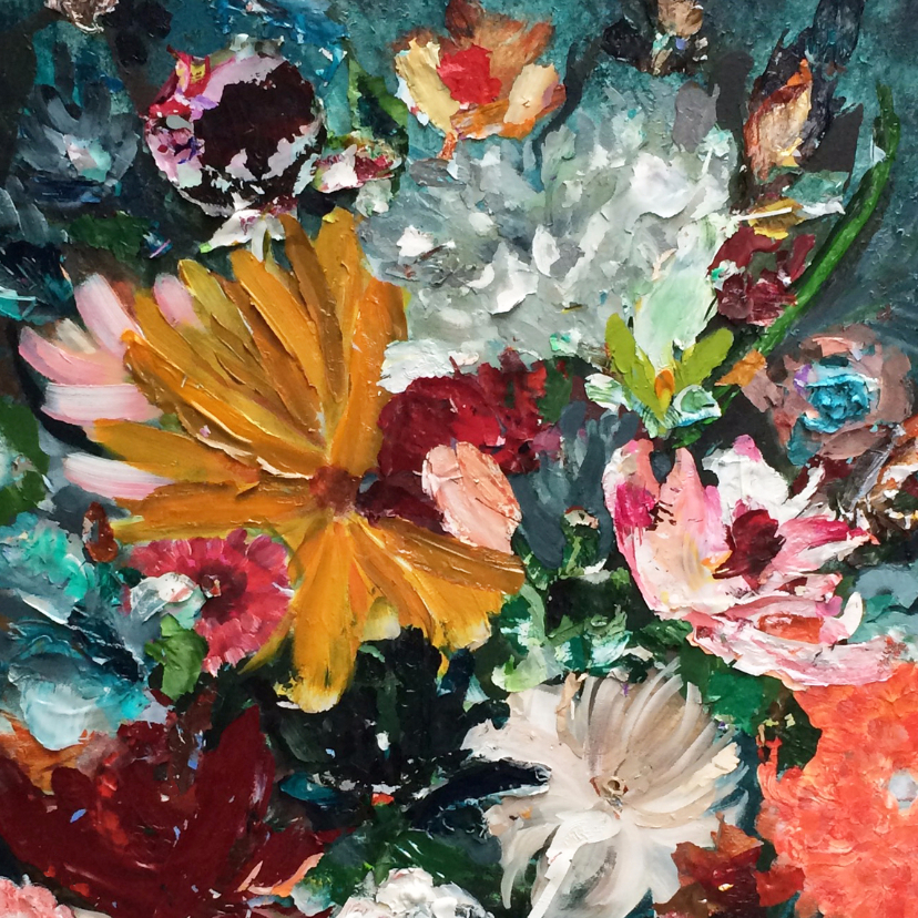 Schilderij Vreugde- bloemen - Kunstkaarten | Kaartje2go