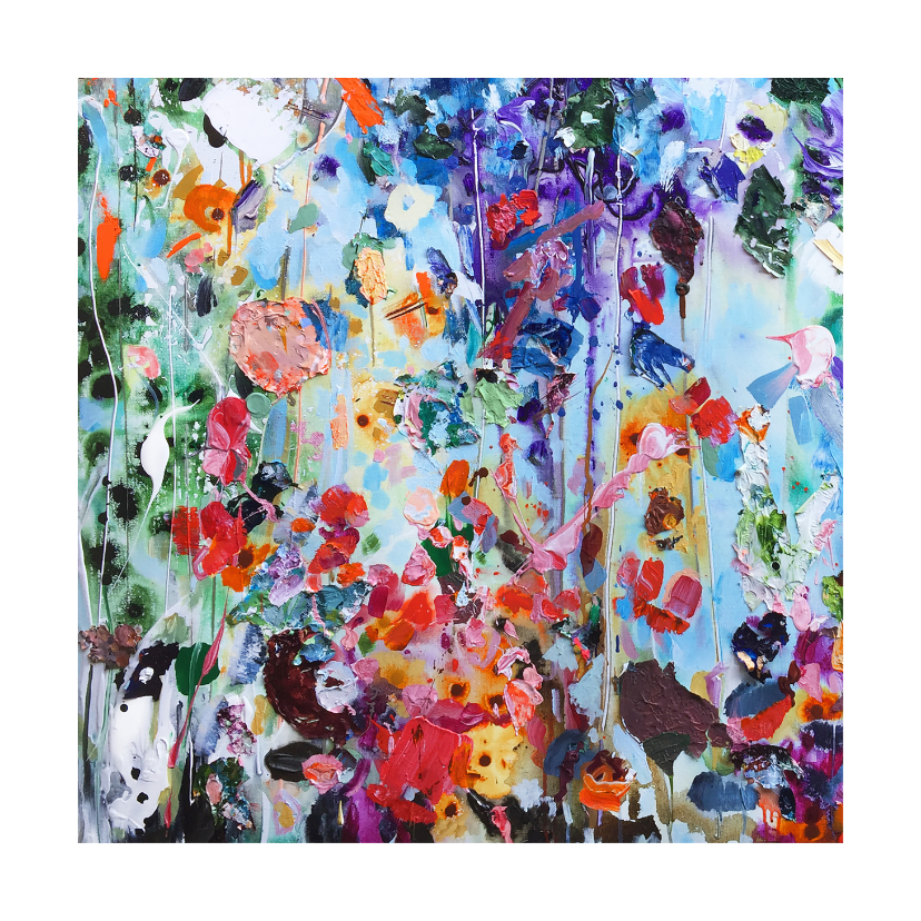 Kunstkaarten - Schilderkunst bloemen Martine de Ruiter iets fraais