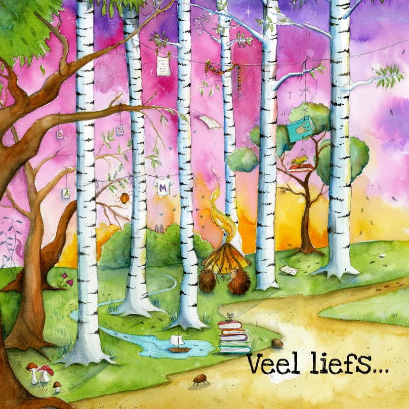 Kunstkaarten - Sprookjesachtige beterschapskaart