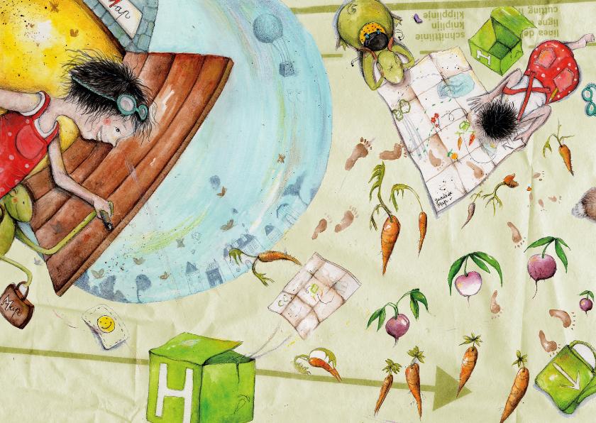 Kunstkaarten - Uitnodigingen: Welkom op onze picknick!