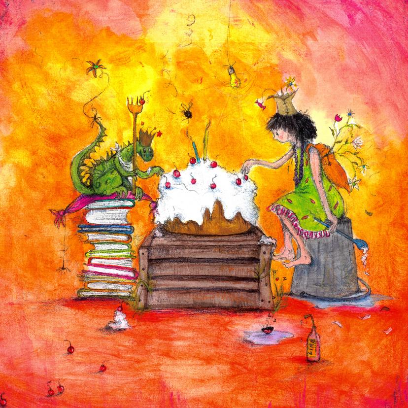 Kunstkaarten - Verjaardagskaart een drakenfeest