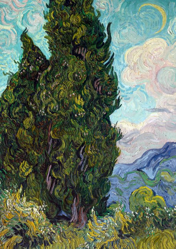 Kunstkaarten - Vincent van Gogh. Landschap met cipressen