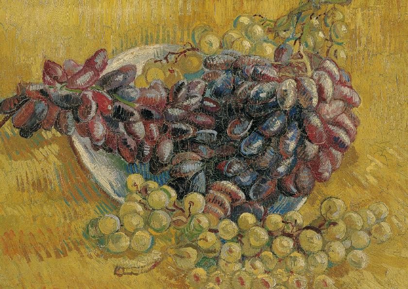 Kunstkaarten - Vincent van Gogh. Stilleven met druiven