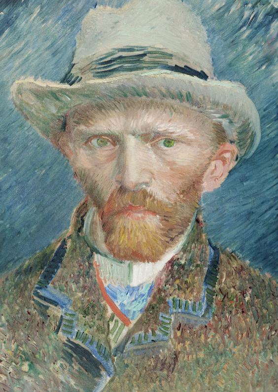 Kunstkaarten - Zelfportret Vincent van Gogh
