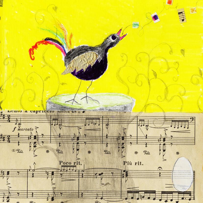 Kunstkaarten - Zomaar kaart vogel en ei