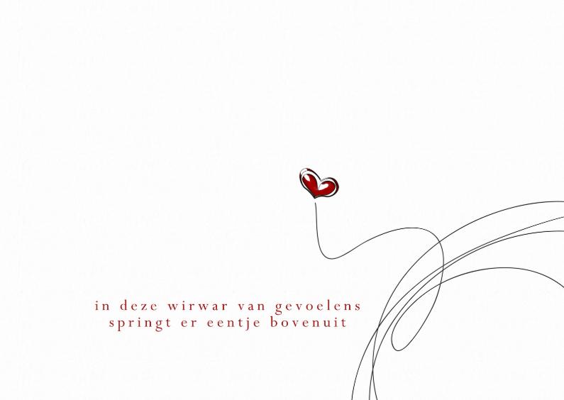 Liefde kaarten - 13069 Liefde kaart Wirwar
