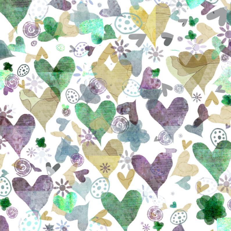 Liefde kaarten - Dansende hartjes