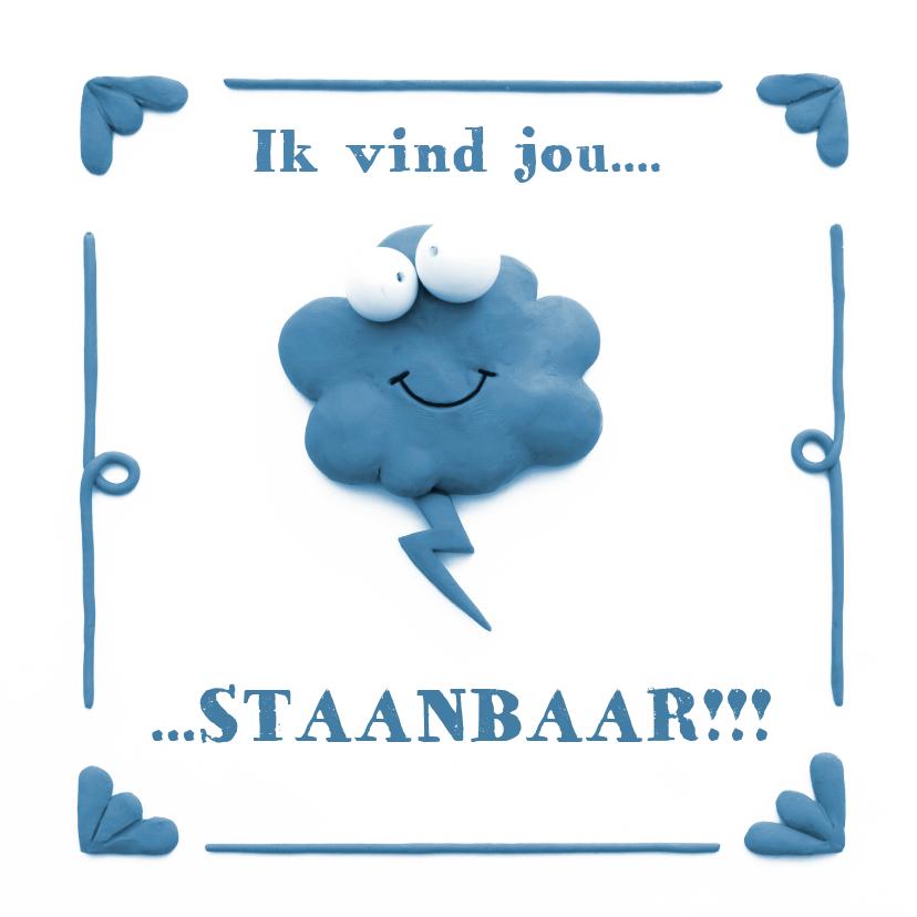 Liefde kaarten - Delfts Blauwe Onweerswolk