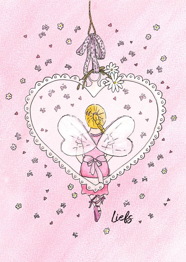 Liefde kaarten - Elfje in hart
