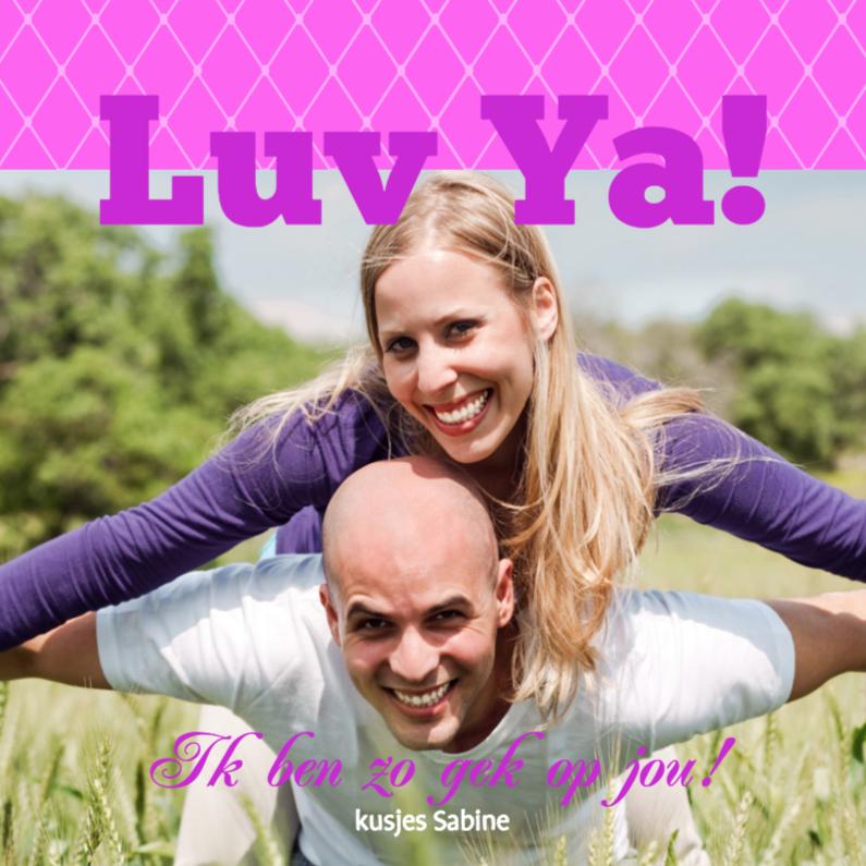 Liefde kaarten - Foto 4kant Luv Ya - BK