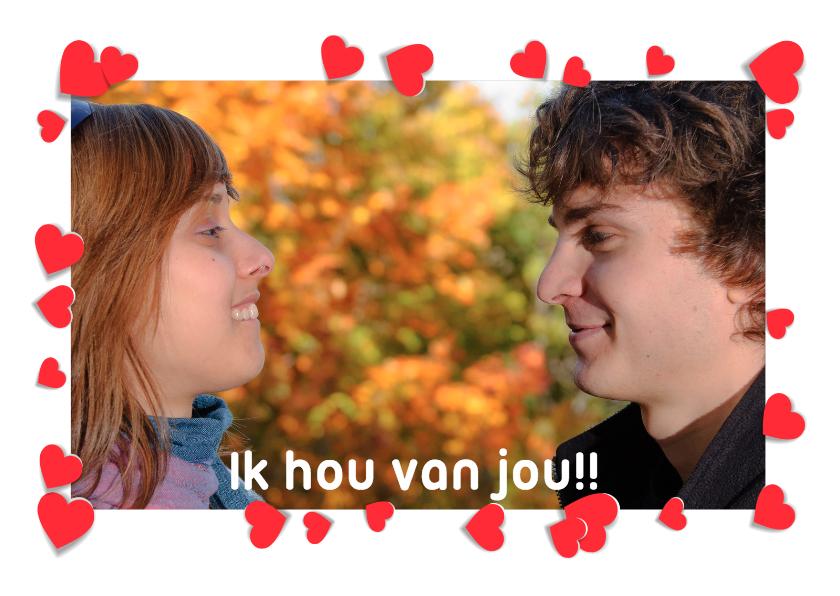 Liefde kaarten - Fotokaart Liefde Ik Hou Van Jou