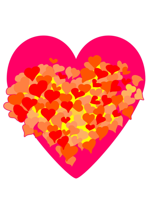 Liefde kaarten - Gloed van liefde