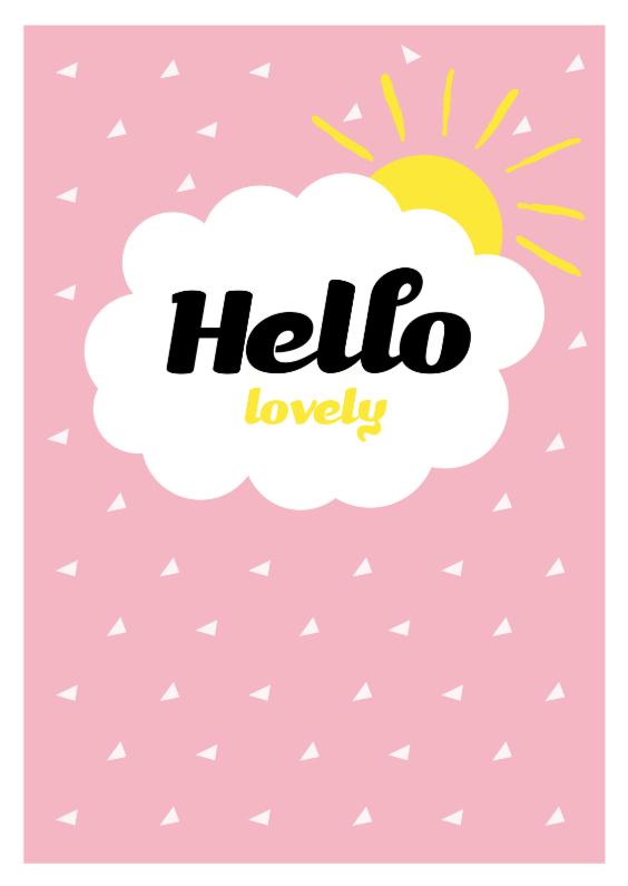 Liefde kaarten - Hello Lovely