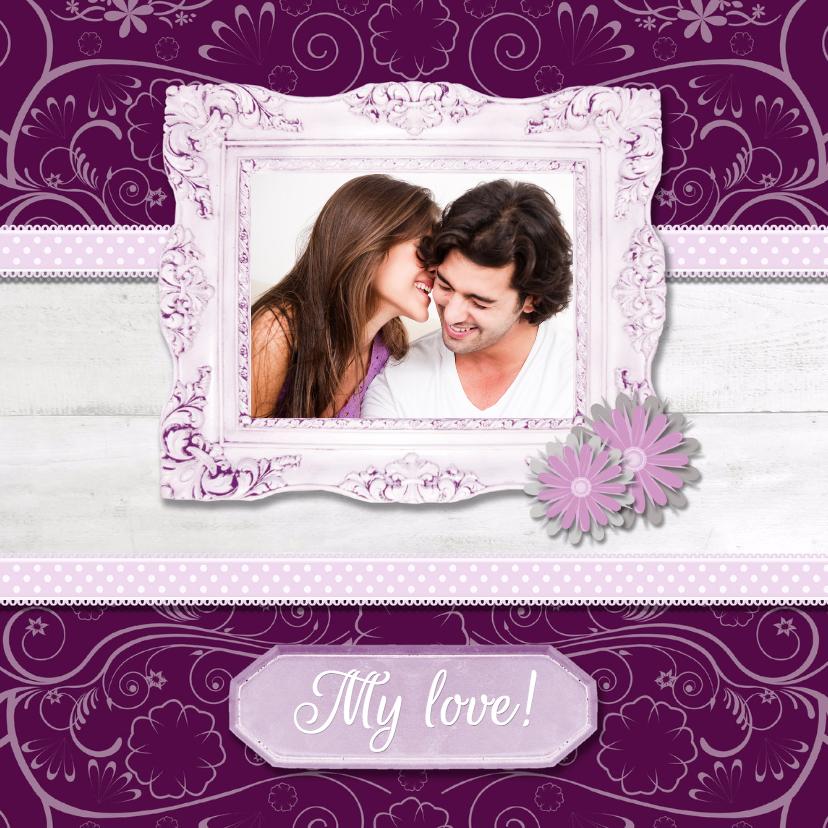 Liefde kaarten - Hout met Label My Love - BK
