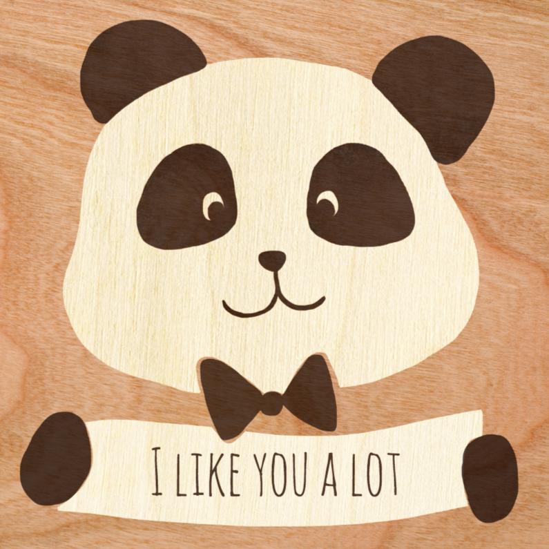 Liefde kaarten - I like you a lot panda