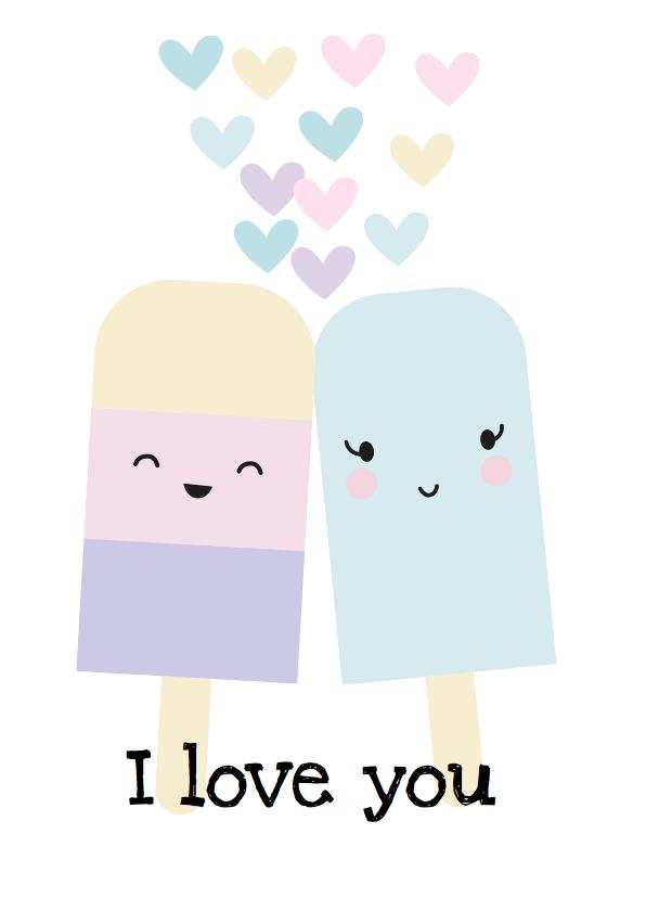 Liefde kaarten - IJsje I love you