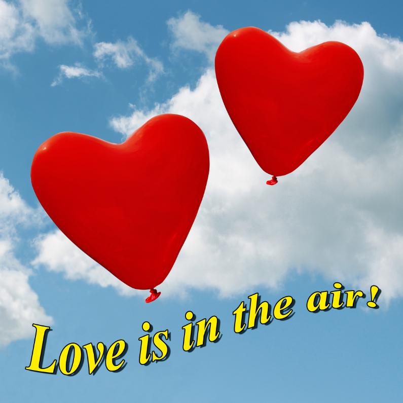 Liefde kaarten - Kaart love is in the air