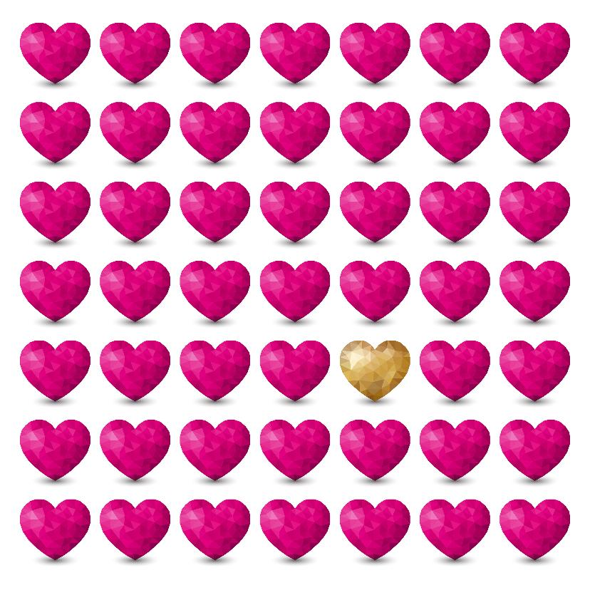 Liefde kaarten - Kaart met  hartjes voor iemand met een hart van goud