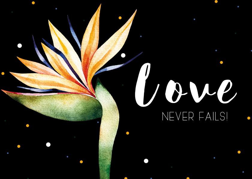 Liefde kaarten - Kaartje: Love never fails