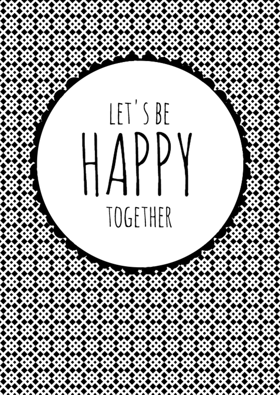 Liefde kaarten - Let's be happy together
