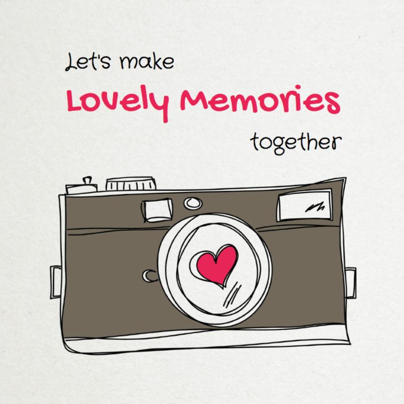 Liefde kaarten - Let's make Lovely Memories - SG