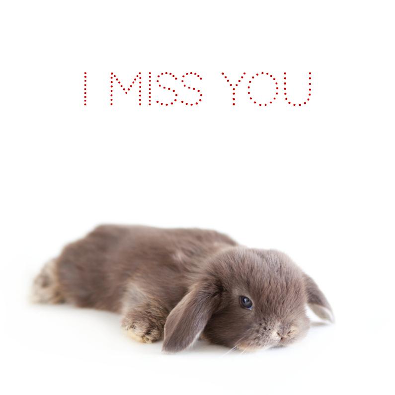 Liefde kaarten - Lief liggend konijntje
