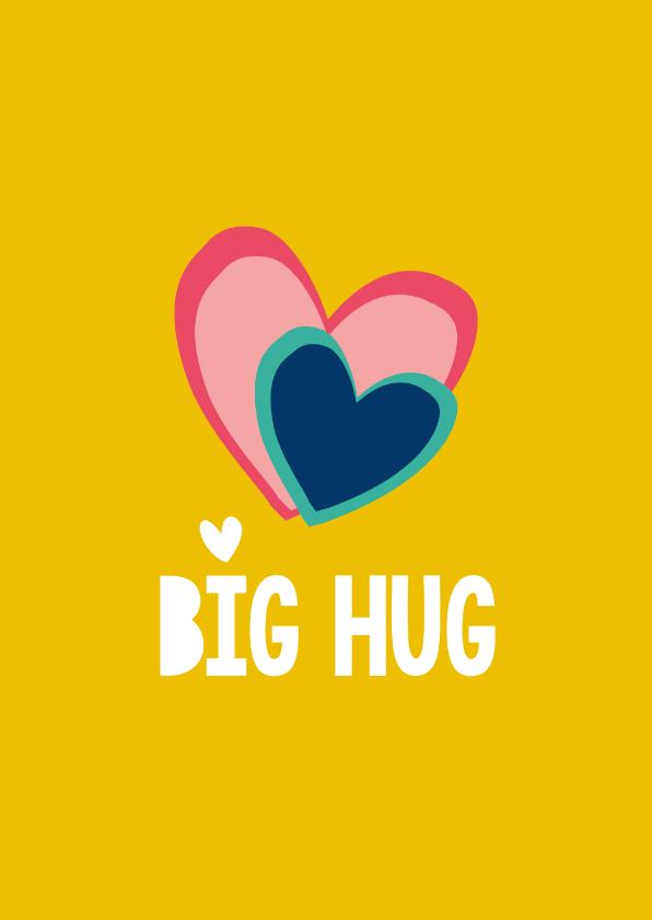 Liefde kaarten - Liefde Big Hug - hartje kaart