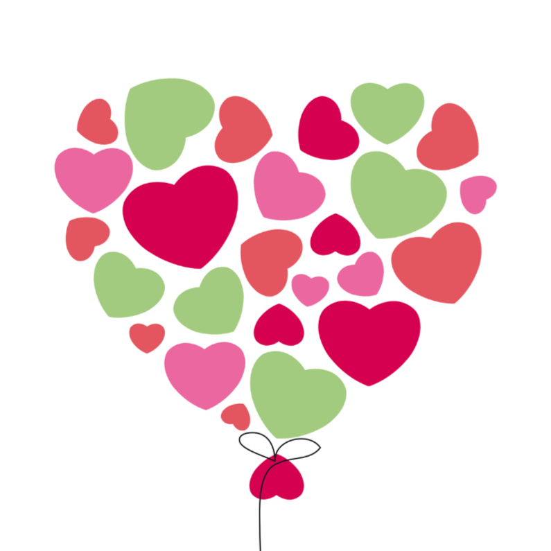 Liefde kaarten - Liefde hart 4