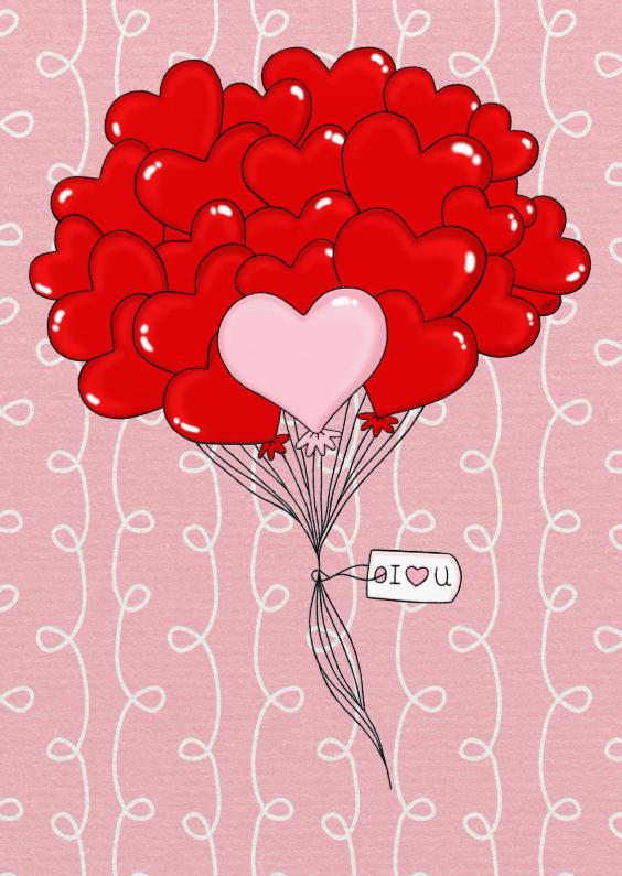 Liefde kaarten - Liefde Harten I LOVE U - TbJ