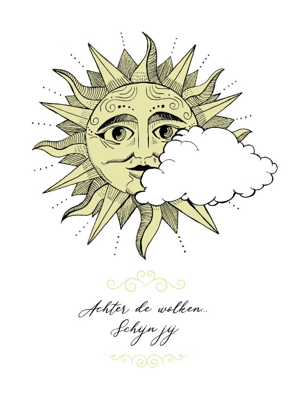 Liefde kaarten - Liefde kaart - achter de wolken schijn jij