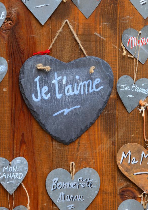 Liefde kaarten - Liefde kaart hart frans - AJ