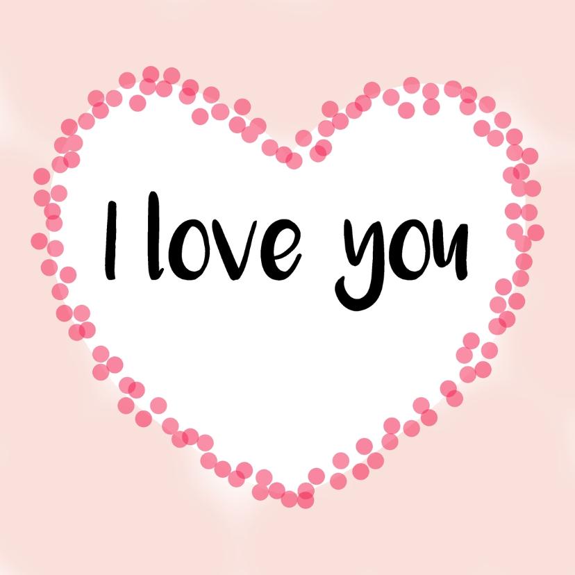 "Liefde kaarten - Liefde kaart ""I love you"" - WW"
