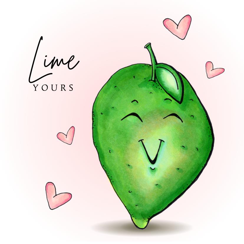 Liefde kaarten - Liefde kaart Lime yours