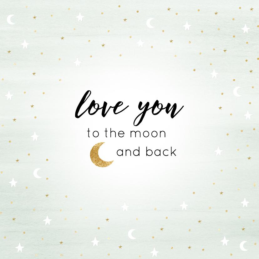 """Liefde kaarten - Liefde kaart """"maan"""""""