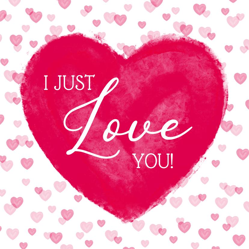 Liefde kaarten - Liefde kaart met groot hart 'I love you'