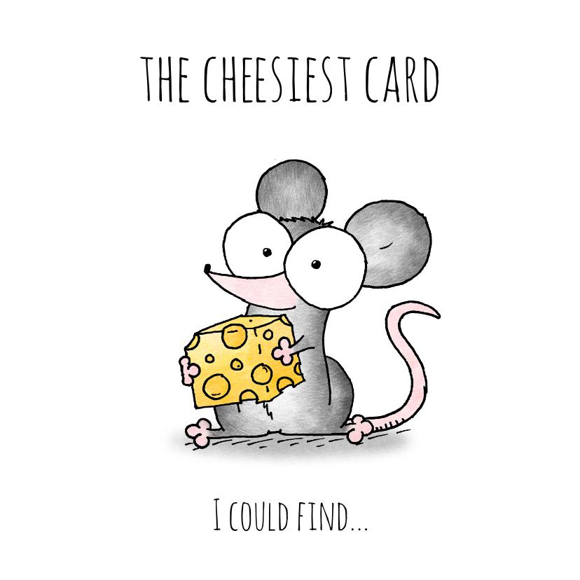 Liefde kaarten - Liefde kaart muisje - The cheesiest card I could find